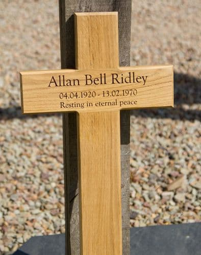 Wooden Memorial Crosses with Text Engraved    The Sign Maker Shop